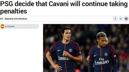 La exposición de París dictaminó: Cavani jugar por penaltis después de Neymar