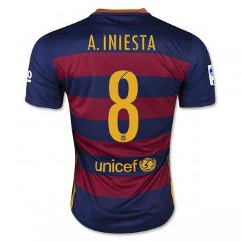 Barcelona 15 16 A. INIESTA Camiseta de la 1ª equipación d45fabe599b