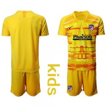 Camisetas Clubes Atlético Madrid Portero Amarillo Camiseta De Futbol Niños