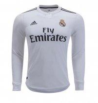 adidas Real Madrid Manga larga Camiseta de la 1ª equipación 18 19 86d209e403d72