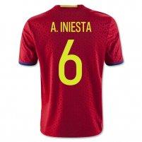 Spain 2016 A. INIESTA - Niños Camiseta de la 1ª equipación